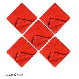 حوله مایکروفایبر زیزر قرمز  zvizzer بسته 5 عددی