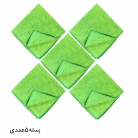 حوله مایکروفایبر زیزر سبز zvizzer بسته 5 عددی